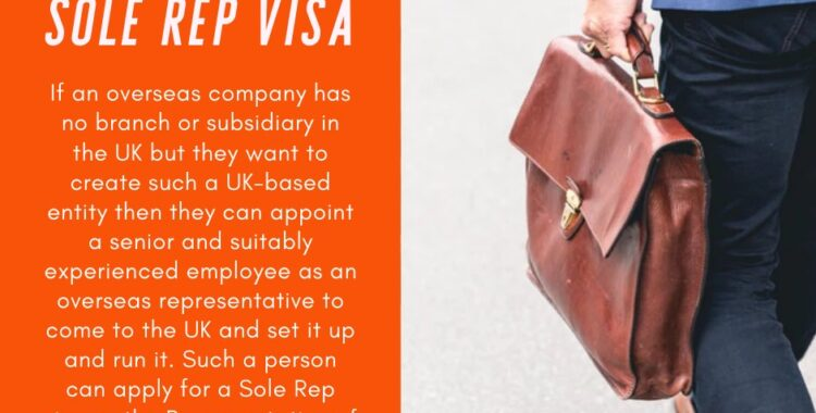 Sole rep visa